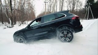 getlinkyoutube.com-Porsche Cayenne (2015) Тест-драйв.Anton Avtoman