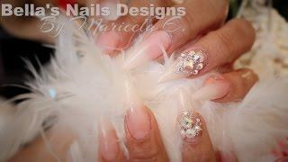 getlinkyoutube.com-Natural Acrylic Nails: Ombre Nails / Wedding Nails