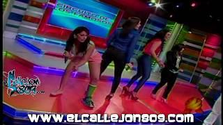 Presentadora de TV Bailando Dembow con Un Yeso y en pantalones Cortos