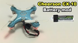 getlinkyoutube.com-Cheerson CX-10 micro quadcopter battery mod