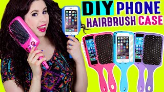 getlinkyoutube.com-DIY Hairbrush Phone Case   Brush Your Hair With Your iPhone   Take Selfies With Your Hairbrush!