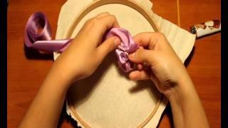 getlinkyoutube.com-Видео мастер-класс вышивки лентами. Анютины глазки.wmv