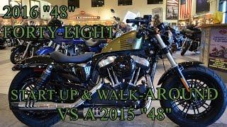 getlinkyoutube.com-2016 Harley-Davidson 48 [Forty-Eight]  VS  2015 48