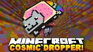 getlinkyoutube.com-Minecraft RAINBOW COSMIC DROPPER! (17 Levels of AWESOME!) | w/ PrestonPlayz & MrWoofless