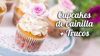 getlinkyoutube.com-Cupcake de vainilla + trucos para cupcakes perfectos   Quiero Cupcakes!