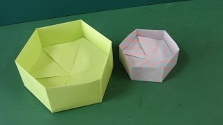"getlinkyoutube.com-折り紙「6角形の箱」折り方Origami ""Hexagon Box"""