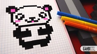 getlinkyoutube.com-Handmade Pixel Art - How To Draw Kawaii Panda #pixelart