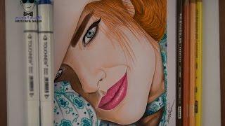 getlinkyoutube.com-كيفية رسم بنت وطريقة تلوين البشرة بالالوان الخشبية