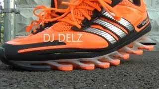 getlinkyoutube.com-adidas Springblade Shoes on Feet Close Up Testing Blades With Dj Delz