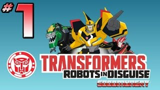 getlinkyoutube.com-Transformers: Robots In Disguise Video Game - PART 1 - Bumblebee & Sideswipe In Action!