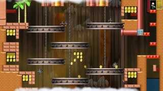 getlinkyoutube.com-NSMBW Custom Level The Pit of 100 Trials (1-20) New Super Mario Bros Wii