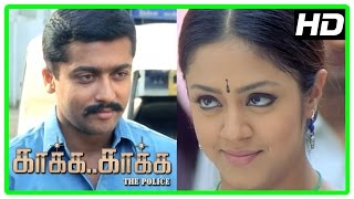 getlinkyoutube.com-Kaaka Kaaka movie scenes | Suriya and Jyothika decide to marry | Jeevan intro | Yog Japee