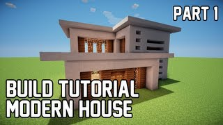 getlinkyoutube.com-Minecraft: How to Make Modern House 1 (Part 1)