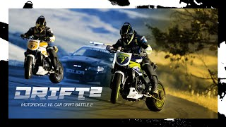 getlinkyoutube.com-Motorcycle vs. Car Drift Battle 2