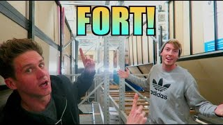 ULTRA HUGE FORT IN THE RAFTERS!