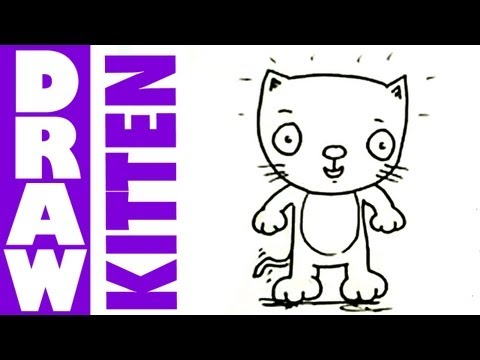 How to draw cute cartoon kittens
