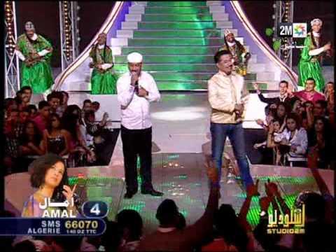 GNAOUA Hamid Al Kasri et Khalid  Maroc Algerie chanson Marocaine 2M Maroc.mpg