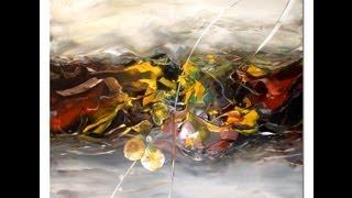 getlinkyoutube.com-Acrylmalerei abstract acrylic painting Demo Speed