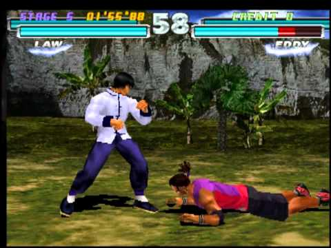 Tekken Tag Tournament Arcade Gameplay (MAME on PC) - Law and Kazuya