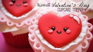 getlinkyoutube.com-Kawaii Valentine's Day Cupcake Topper