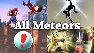 getlinkyoutube.com-Super Smash Bros. 4 - All Meteor Smashes (DLC included)