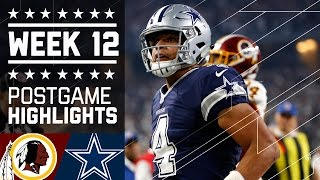 Redskins vs. Cowboys | NFL on Thanksgiving Week 12 Game Highlights
