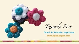getlinkyoutube.com-Flores de botón a crochet