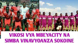 Line up za MbeyaCity na Simba Leo Sokoine stadium