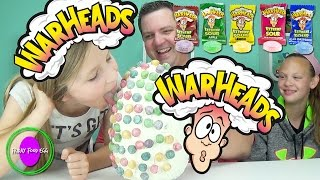 getlinkyoutube.com-Warheads Candy Food Egg - SOUR Face! Tsum Tsum Figural Keyrings