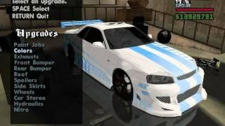 getlinkyoutube.com-GTA SA: Tuning Nissan Skyline Tunable + Dodatek Clo mod.