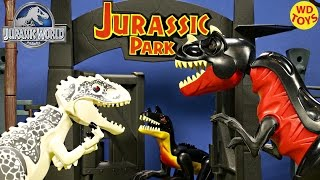 getlinkyoutube.com-New 5 Rare Jurassic World Lego Dinosaur Toys Including T-Rex Vs Indominus Rex,Velociraptor, Unboxing