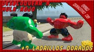getlinkyoutube.com-LEGO Marvel Super Heroes Desbloquear Hulk Rojo +7 Ladrillos Dorados