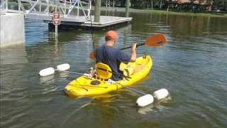 getlinkyoutube.com-Retractable Kayak Stabilizers/ Outriggers  $109.00