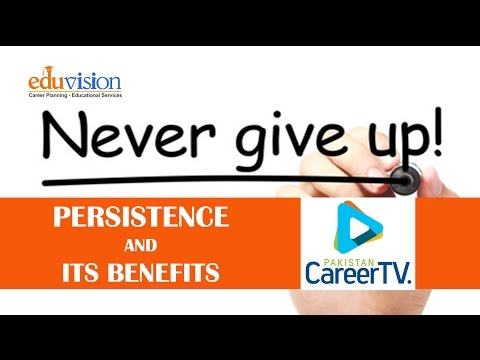 Persistence in a Career