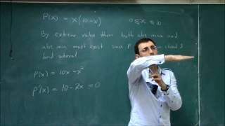 Calculus I (Lecture 20): Optimization width=