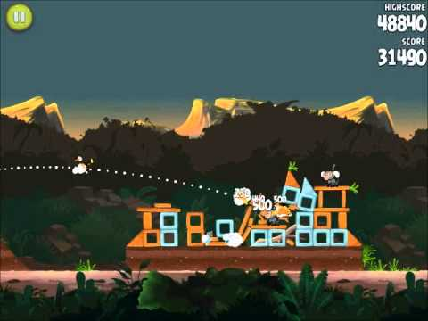 Official Angry Birds Rio Walkthrough Jungle Escape 4-13