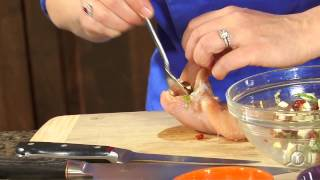 getlinkyoutube.com-Stuffed Chicken Breast With Mozzarella, Sun Dried Tomatoes and Basil