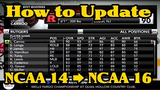 getlinkyoutube.com-NCAA Football 14: How to Update Rosters and Teams to 2015-2016 Season (Xbox 360 & PS3)