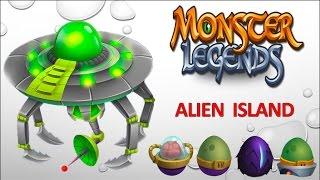 getlinkyoutube.com-Monster Legends - Alien Island [Full Unlock 2015]