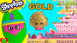 getlinkyoutube.com-Shopkins Swapkins GOLD Kooky Cookie and Spinderella Limited Edition Hunt