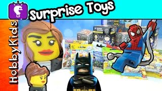 getlinkyoutube.com-Trixie Surprise Toys 3 Play-Doh Batman Spider-man Funko Minecraft SpongeBob by HobbyKidsTV