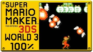 getlinkyoutube.com-Super Mario Maker for Nintendo 3DS - World 3 | Super Mario Challenge 100% Walkthrough