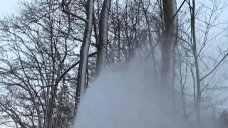getlinkyoutube.com-John Deere 318 24hp Honda,  Blowing some wet snow