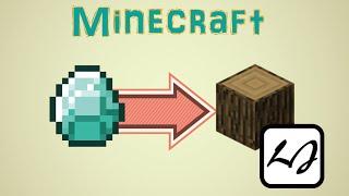 getlinkyoutube.com-【阿飄日常】如果 Minecraft 的鑽石都變木頭,放火後?