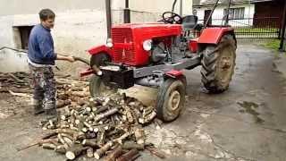 SAM Ciągnik Traktor Samoróbka z piłą do cięcia Osielec