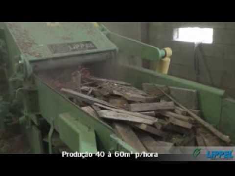 Picador de Cavaco Lippel PTL 240 X 600 - Reciclagem de Madeira com Pregos e Grampos