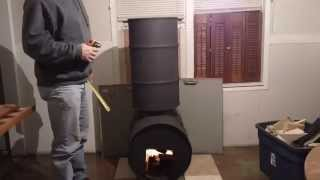 getlinkyoutube.com-DOUBLE BARREL ROCKET STOVE