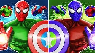 getlinkyoutube.com-Marvel Super Hero Mashers Spider-Man, Hulk (Best Fights) - Mix + Smash