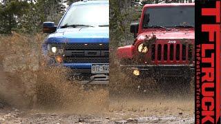 getlinkyoutube.com-Ford Raptor vs Jeep Wrangler (Part 1): The Ultimate Off-Road Mashup Challenge