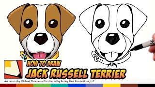 getlinkyoutube.com-How to Draw Jack Russell Terrier Emoji - How to Draw Cute Dogs Step by Step for Beginners